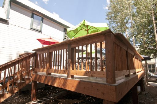 Last Steep Deck Remodel - Crested Butte Construction - Somrak Concept and Structure